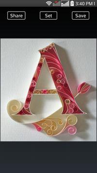 Quilling Paper Alphabets screenshot 2