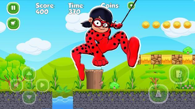 Ladybug The Hero Run Chibi apk screenshot