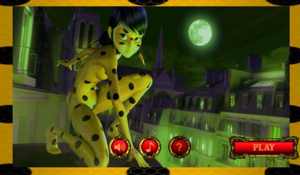 ladybug yellow poster