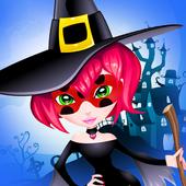 Ladybug Witch Chibi Halloween icon