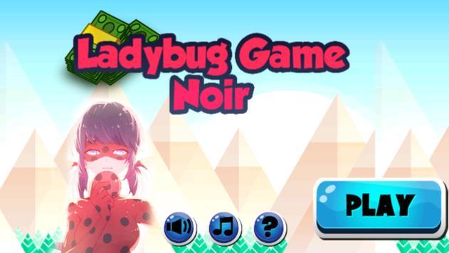 Ladybug Adventure Noir poster