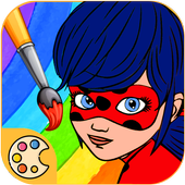 Ladybug & Catnoir Coloring Book. icon