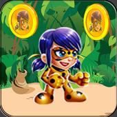 Subway ladybug jungle run icon