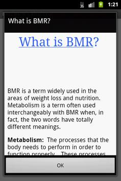 BMI & BMR Calculator apk screenshot