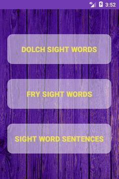 Learn Sight Words with Sentences poster