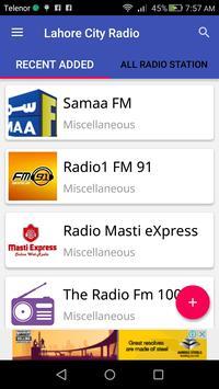Lahore City Radio poster