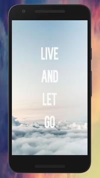 Letting Go Quote Wallpapers poster