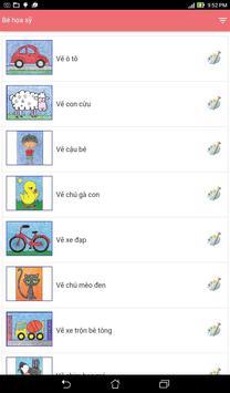 Bé họa sĩ - Tập vẽ cho trẻ em apk screenshot