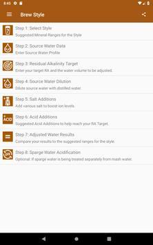 Palmer's Brewing Water Adj App скриншот 9