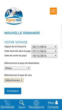 Planète Visas screenshot 1