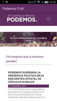 Podemos Castilla-La Mancha poster