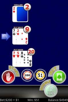 Lucky Sevens Blackjack FREE apk screenshot