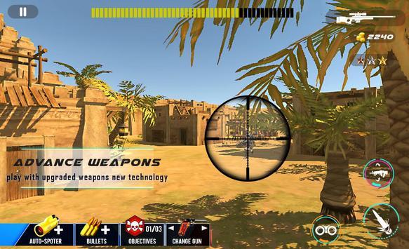 Desert Sniper Commando Battle screenshot 5