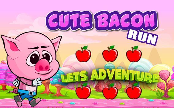 Cute Bacon Run poster
