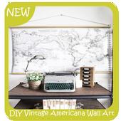 DIY Vintage Americana Wall Art Map icon