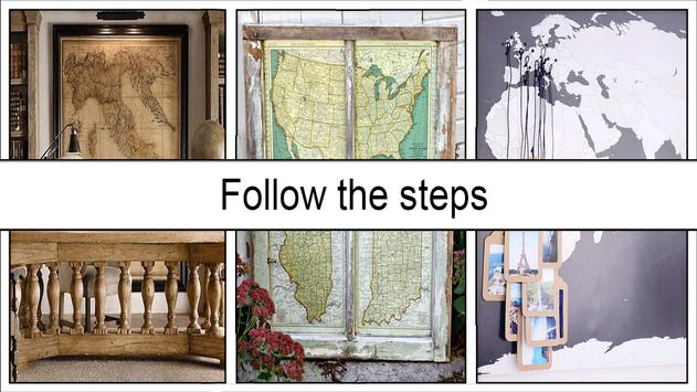 DIY Vintage Americana Wall Art Map screenshot 4