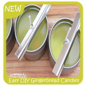 Easy DIY Gingerbread Candles icon