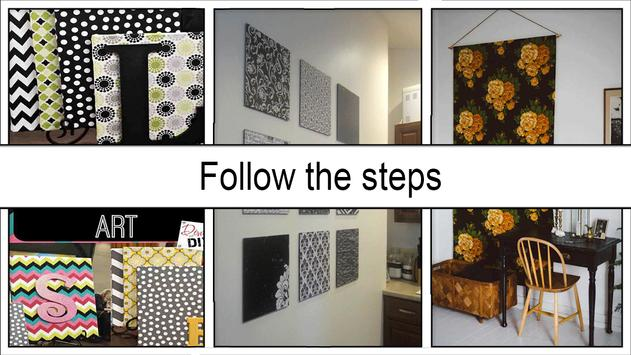 Easy Fabric Wall Art Ideas screenshot 4