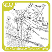 Easy Landscape Coloring Pages icon