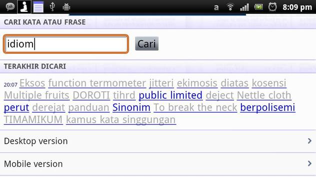 Kamus Landak Online screenshot 1