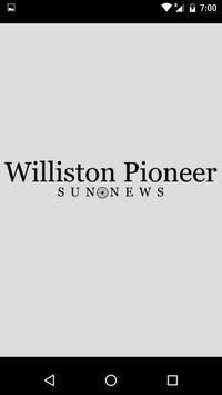 Williston Pioneer Sun News poster