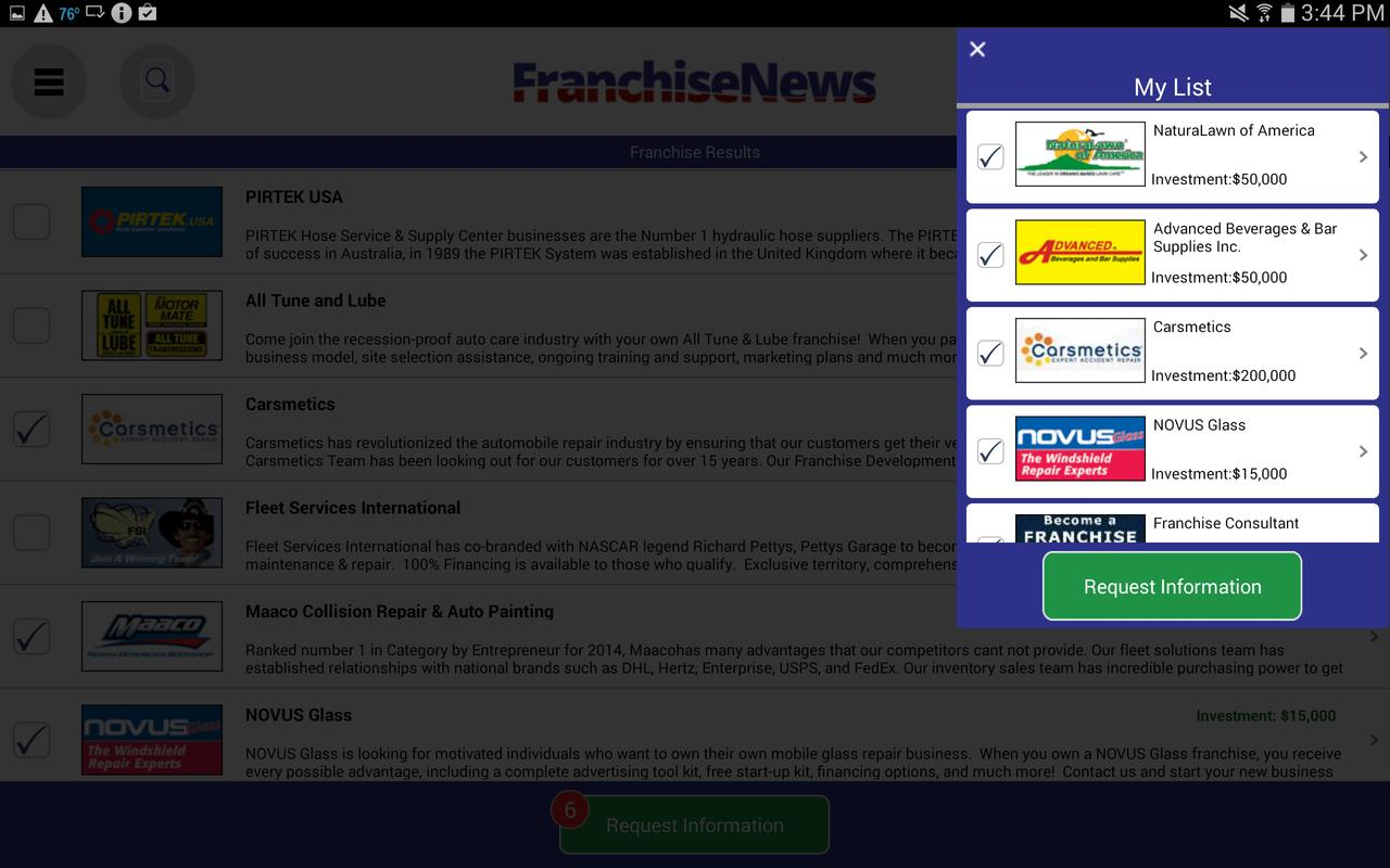 a description of a franchise In addition, there must be a factual description of the franchise as well as an unequivocal statement of the total funds to be paid, such as initial franchise fees, deposits, down payments, prepaid rent on the location, and equipment and inventory purchases.