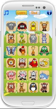 Toddler Animal Learn poster