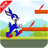 hopping bird run icon