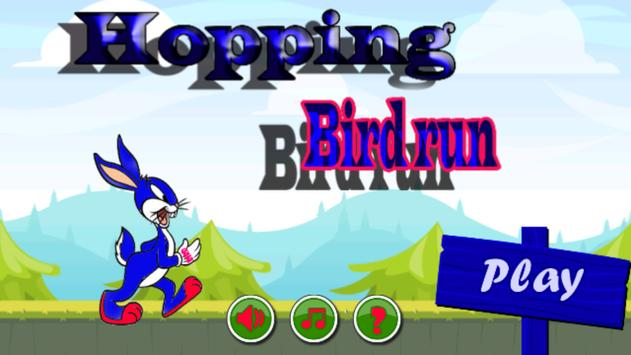 hopping bird run poster
