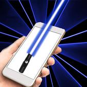 Laser light simulation icon