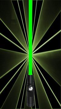 Laser light simulation poster