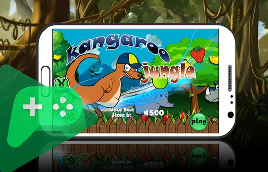 Jungle Kangaroo Play jump 2d apk screenshot