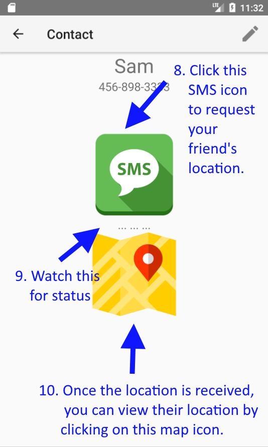 Location SMS poster