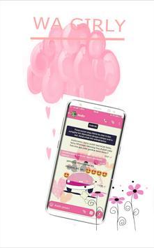 wa pink girly terbaru poster