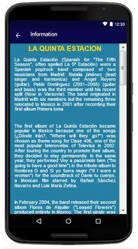 La Quinta Estacion - Song and Lyrics screenshot 5