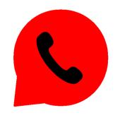 واتس آب احمر icon