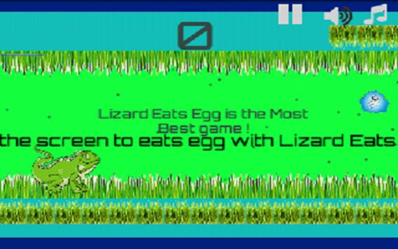 Lizard Eats Egg apk screenshot