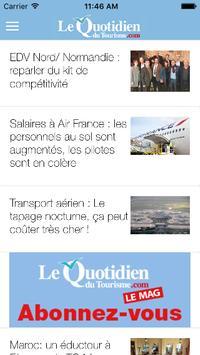 Le Quotidien du Tourisme apk screenshot