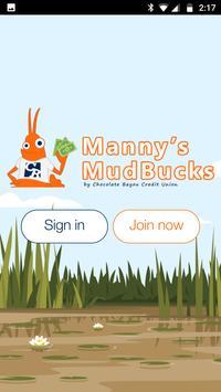 Manny's MudBucks by CBCFCU poster