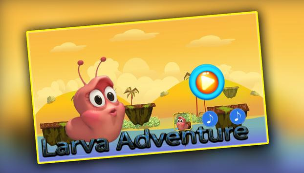 Larva adventure : drive spider apk screenshot
