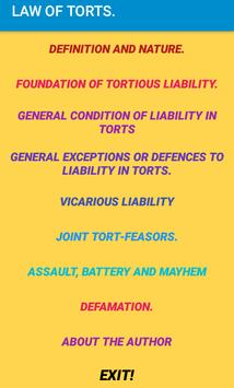 Law of Torts- Revision notes. poster