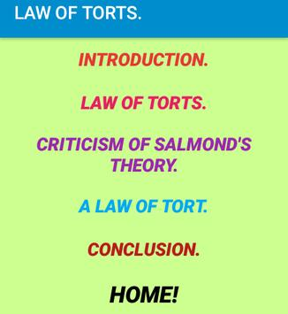 Law of Torts- Revision notes. screenshot 2