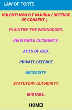 Law of Torts- Revision notes. screenshot 4
