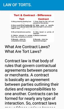 Law of Torts- Revision notes. screenshot 5