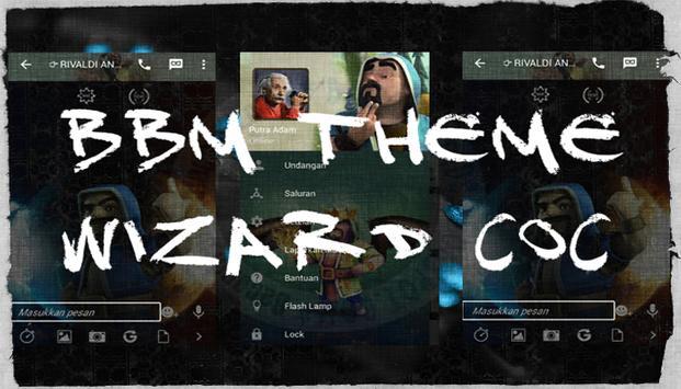 Dual BBM Tema Wizard COC poster