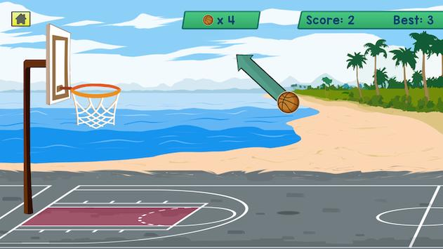 BasketBall Beach Shoot apk screenshot