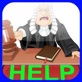 Lawyer defense attorney legal icon