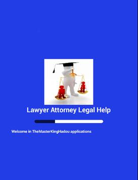 Lawyer defense attorney legal poster