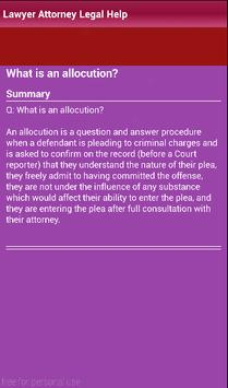 Lawyer defense attorney legal apk screenshot