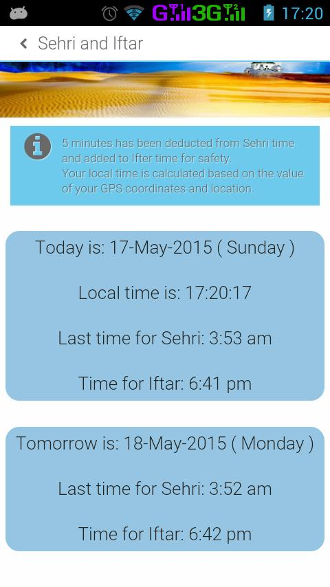 Sehri Iftar Timetable 2016 for Android - APK Download